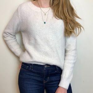 White fluffy soft sweater size m